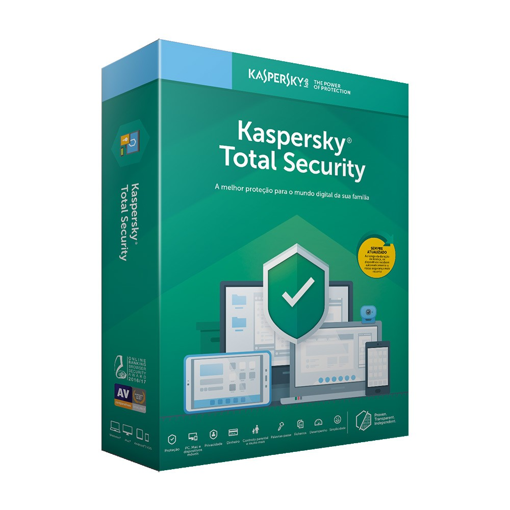 Kaspersky Total Security 5PC/1Ano